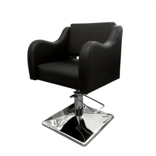 Фризьорски стол в черен цвят - Модел 5002