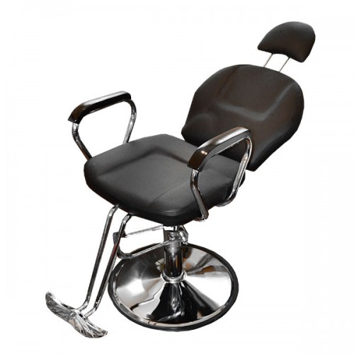 Комфортен бръснарки стол – професионален модел с падаща облегалка 036A
