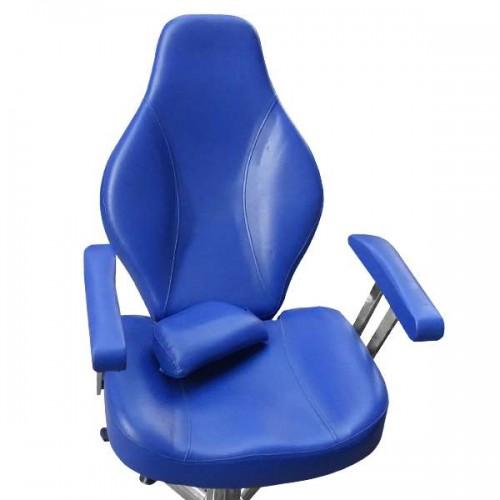 Бръснарски стол в син цвят - Модел 1191-02