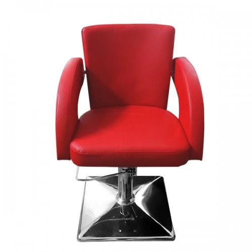 Фризьорски стол Модел М1001 - червен