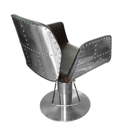 Фризьорски стол с луксозен дизайн - Модел HA295 в кафяво