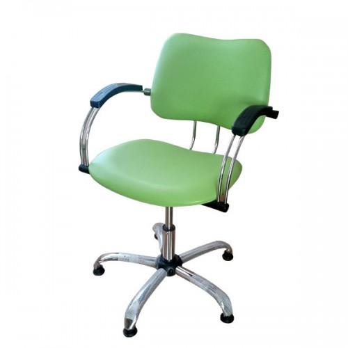 Фризьорски стол в зелено
