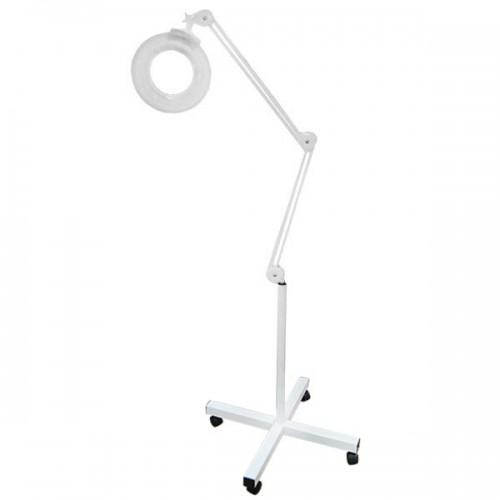 Лампа лупа с метална стойка на колелца - Модел К-205
