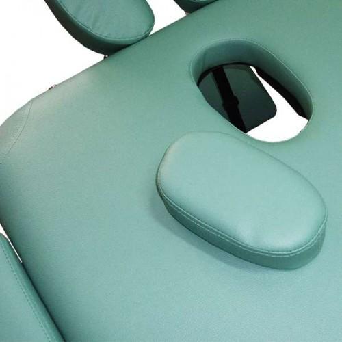 Алуминиева масажна кушетка NO.VA Aero NV22 - преносима, светлозелена