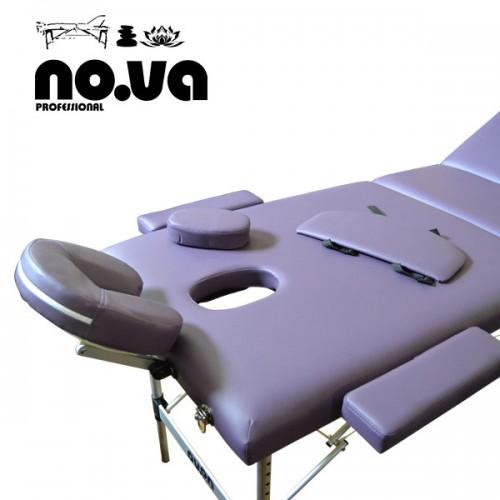 Алуминиева Масажна Кушетка NO.VA Aero Plus NV31 – лилава