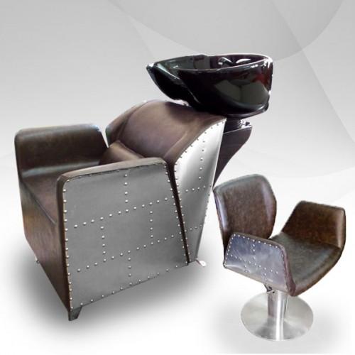 Фризьорски комплект с измивна колона и фризьорски стол