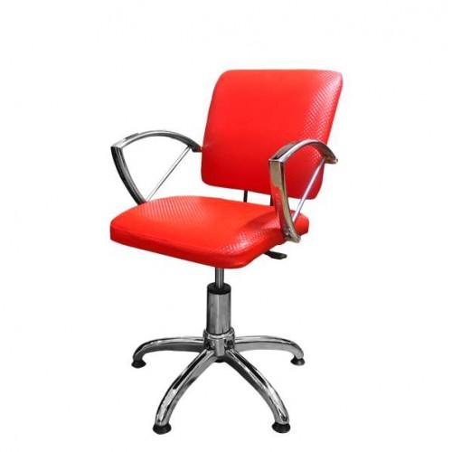 Фризьорски стол в червено