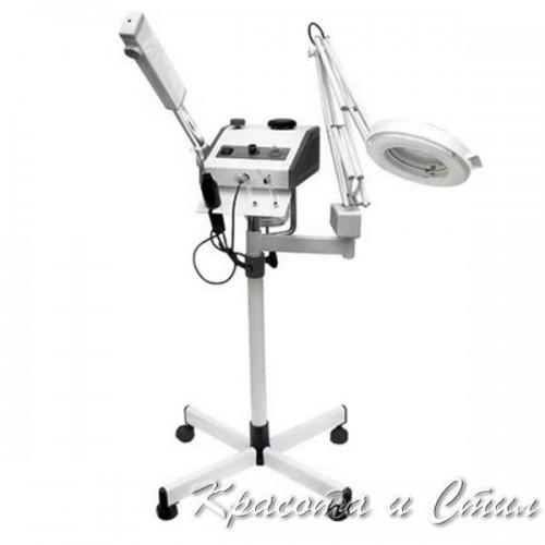 Козметичен уред 3 в 1 Пароозонатор, Лампа лупа и ДАРСОНВАЛ K-200