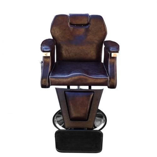 Професионален бръснарски стол в кафяво – Модел 3165