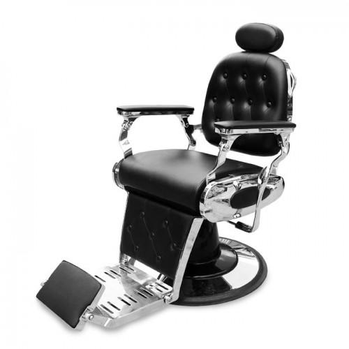 Черен бръснарски стол IM229