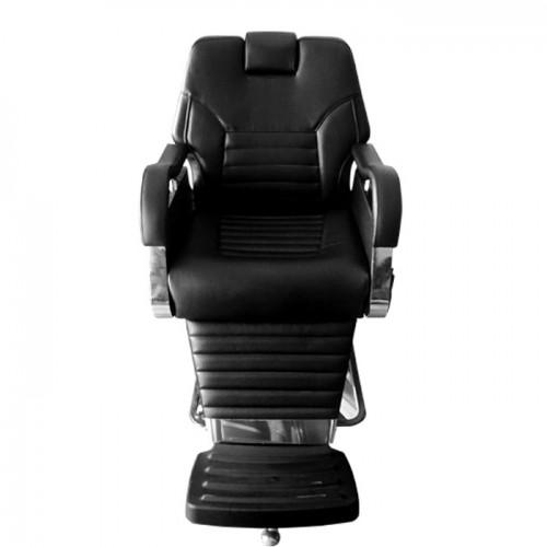 Черен бръснарски стол с регулируема височина N505