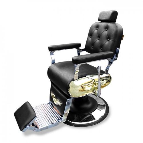 Бръснарски стол с метални детайли IM233