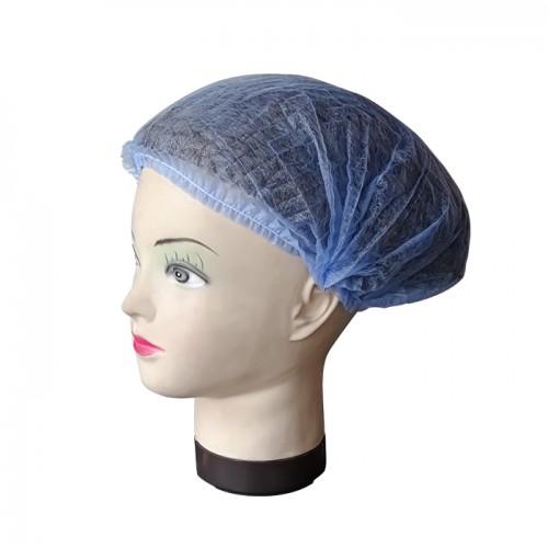 Еднократно боне от нетъкан текстил в син цвят, универсален размер, 100 бр.