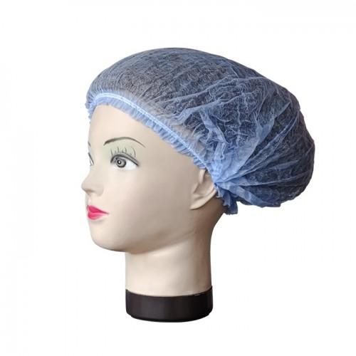 Еднократно боне от нетъкан текстил в син цвят, 52 см, 100 бр.