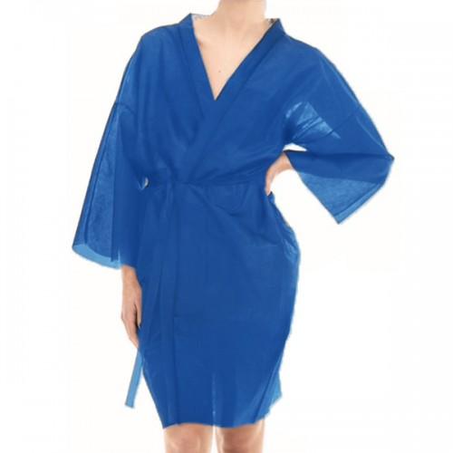 Еднократно кимоно от нетъкан текстил, Син цвят