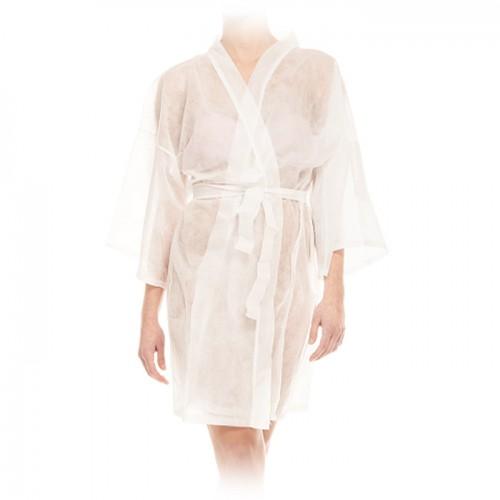 Еднократно кимоно от нетъкан текстил, Бял цвят