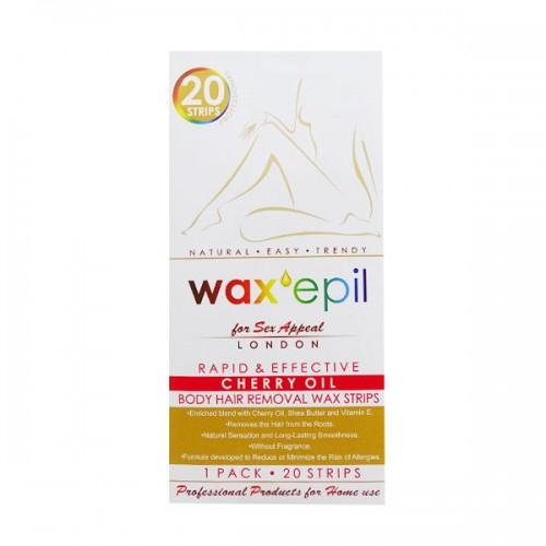 Кола маска ленти за тяло WaxEpil с череша 20 бр