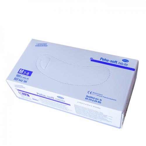 Ръкавици за еднократна употреба от нитрил, Сини, 100 броя