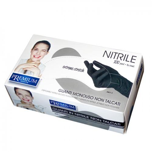 Eднократни черни ръкавици от нитрил Premium, 100 броя
