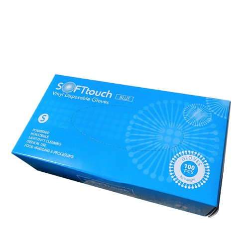 Soft touch еднократни ръкавици от винил с пудра 100 броя