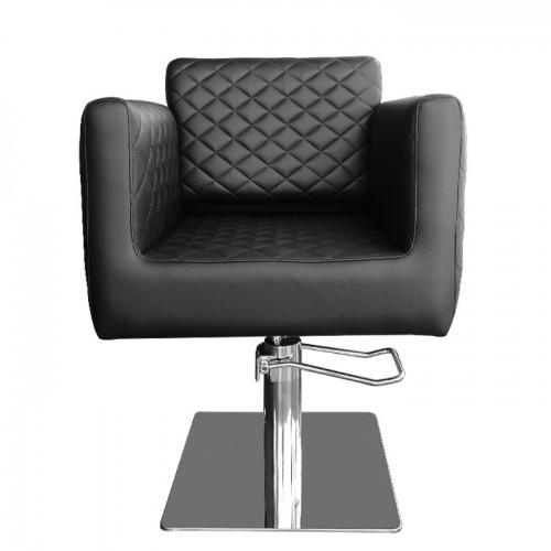 Черно луксозно фризьорско кресло АА730