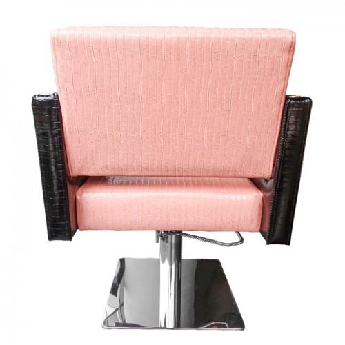 Луксозен фризьорски стол M90, Черно-розов