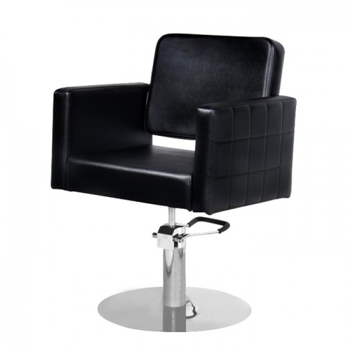 Луксозен черен фризьорски стол модел M970