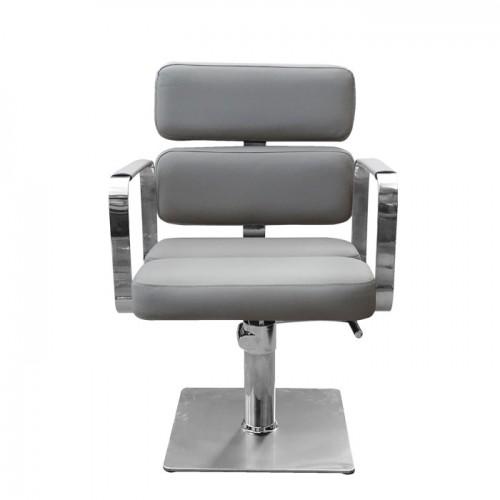 Класически фризьорски стол в сиво IM207