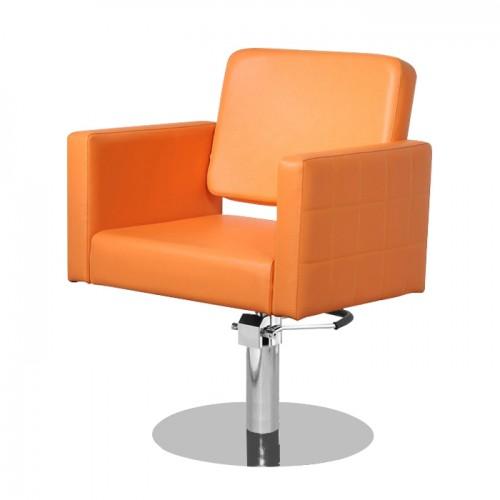 Професионален фризьорски стол в елегантен оранжев цвят модел M970
