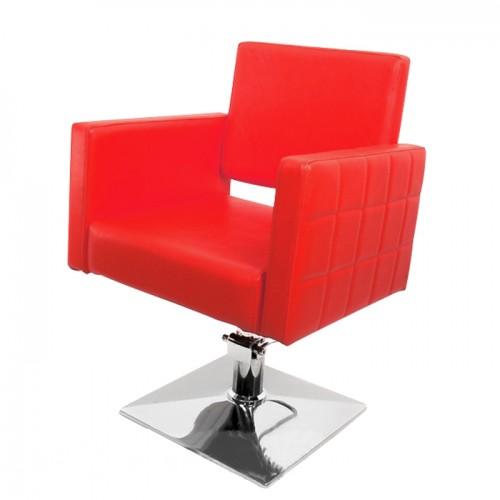 Фризьорски стол PA08F0R – Червен