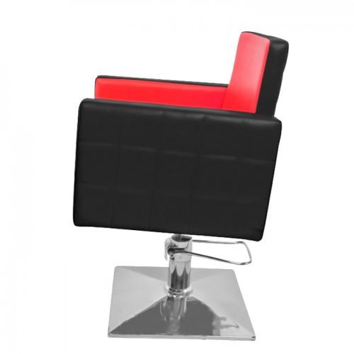 Професионален фризьорски стол в черно и червено модел PA08F0BR