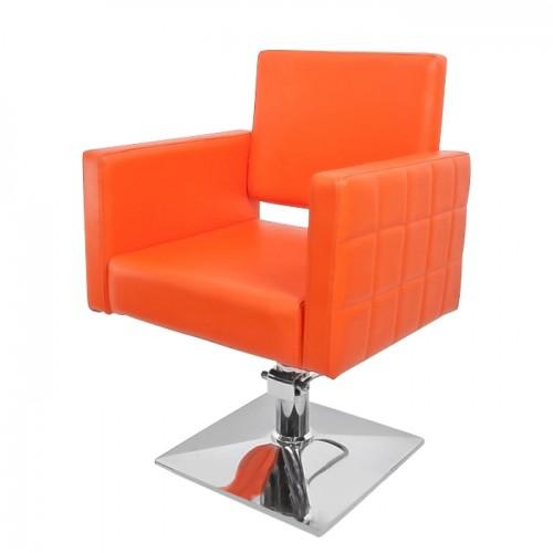 Модерен фризьорски стол в стилен оранжев цвят модел PA08F0OR