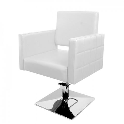 Фризьорски стол PA08F0W – Бял