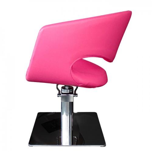 Фризьорски стол T51 в розов цвят