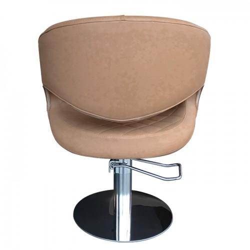 Фризьорски стол T52 в светлокафяв цвят