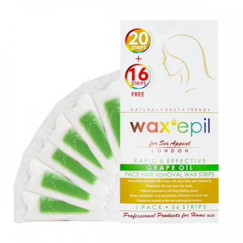 Кола маска ленти за лице WaxEpil с грозде 36 бр
