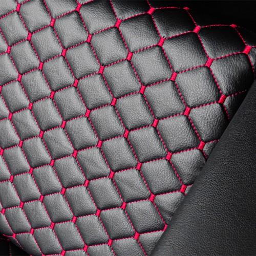 Измивна колона в черно с ромбоидни червени шевове M402
