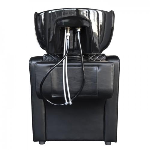 Измивна колона в черно с ефектни бели шевове M820