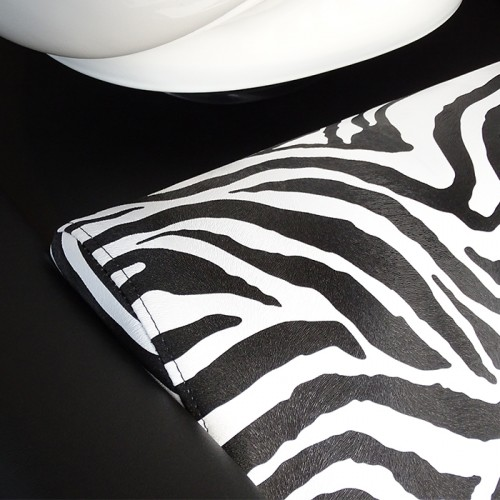 Двойна измивна колона – модел Z2500, еко кожа с десен зебра