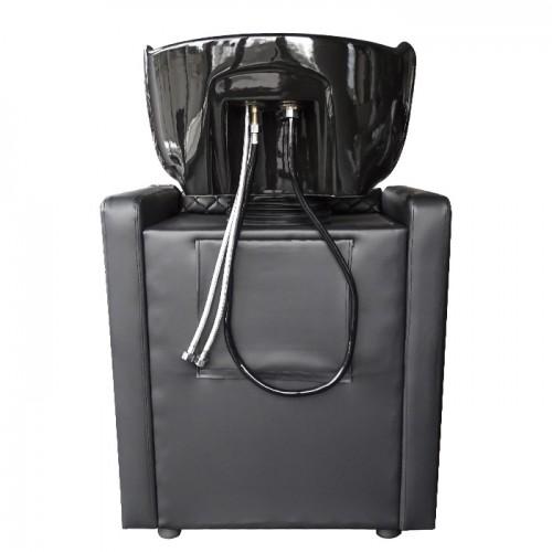Измивна колона в черно с ромбоидни шевове M402-B