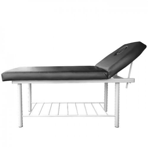 Комбинирано легло за масаж и козметика KL260, ширина 60 см, Черно