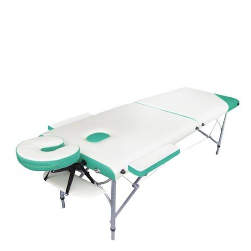 Алуминиева масажна кушетка NO.VA Aero Delux NV21, бяло и зелено