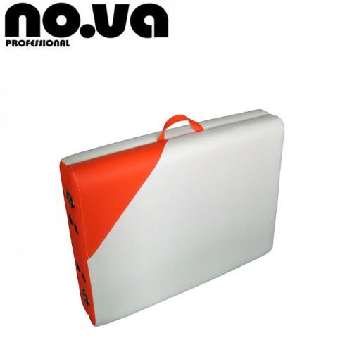 Алуминиева масажна кушетка NO.VA Aero Delux NV21, бяло и оранжево