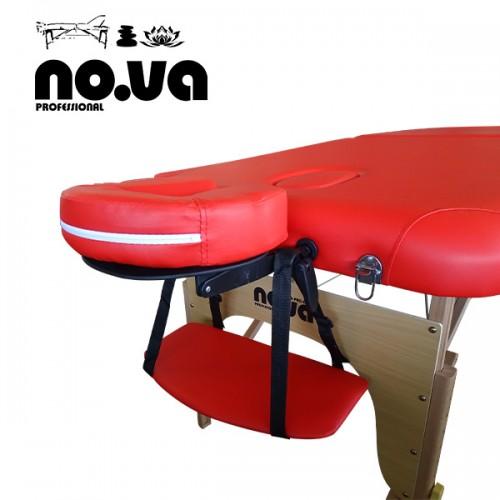 Дървена масажна кушетка, NO.VA Standart, NV22, Червена
