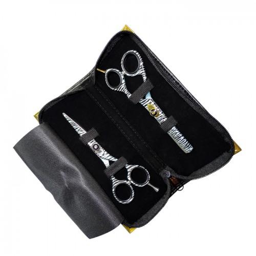 Професионални фризьорски ножици в зебров десен модел DS5
