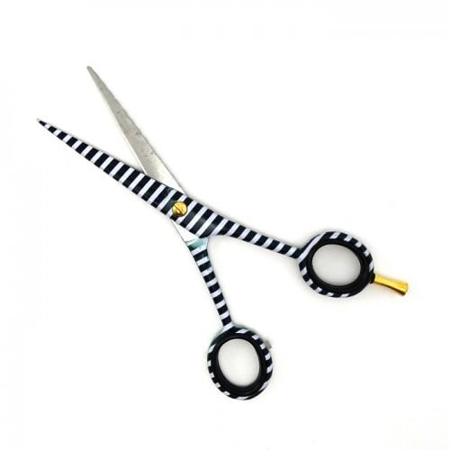 Ножици за фризьорски салон в черно и бяло - комплект
