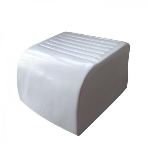 Бяла пластмасова стойка за крака модел D421