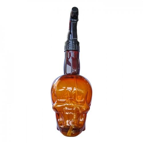 Спрей бутилка за фризьорски или бръснарски салон Brown Skull
