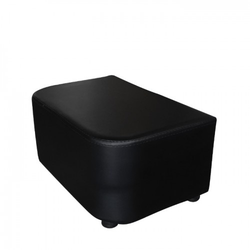 Черна кожена стойка за крака модел D422
